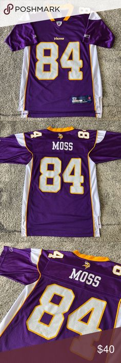 Reebok Nfl Minnesota Vikings Randy Moss Jersey Reebok Randy Moss Football  Jersey Mens Small Used in 68b6d54af