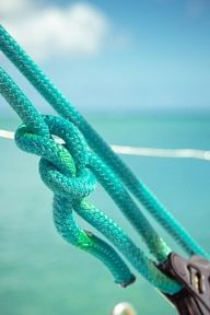 Aqua rope turquoise and ocean Vert Turquoise, Shades Of Turquoise, Shades Of Blue, Teal, Green Aqua, Yellow, Tiffany Blue, Azul Tiffany, Belle Photo