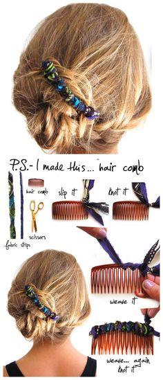 DIY hair combs