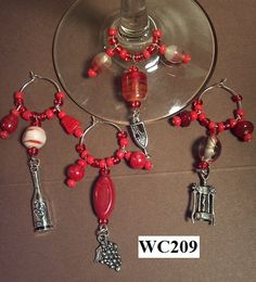 Wine Glass Charms by TheWineHosStore on Etsy, $12.00