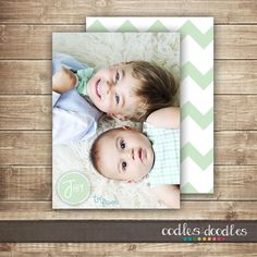 Chevron Photo Christmas Card Holiday Photo Card / by OandD on Etsy