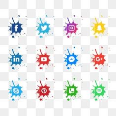 Social media icons PNG Image and Clipart Facebook Icon Png, Logo Facebook, Social Media Buttons, Social Media Logos, Social Icons, Icon Design, Vintage Grunge, Banner Background Images, Phone Backgrounds
