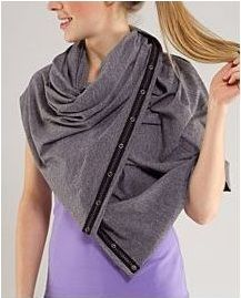LuLu Lemon Vinyasa Scarf- you can tie it like a million different ways! scarf, hoodie, vest, shawl, blanket, wrap, halter....