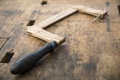 Wooden coping saw