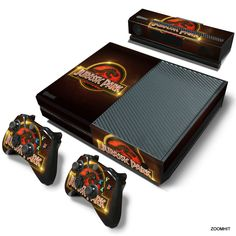 Xbox One Console Skin Decal Sticker Jurassic Park + 2 Controller & Kinect Skins #ZoomHit