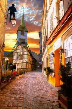 Honfleur, Normandy, France.   There is a wonderful restaurant there called Le Hamelin.
