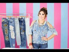 DIY: Cómo desgarrar tus jeans - YouTube