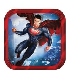 Superman Dessert Plates 8ct - Party City