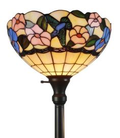 Amora Lighting 70 in. Tiffany Style Hummingbirds Floral Torchiere Floor Lamp - Torchiere Floor Lamps - Ideas of Torchiere Floor Lamps Dragonfly Stained Glass, Style Floral, Floral Design, Tall Floor Lamps, Ikea, Torchiere Floor Lamp, Lamp Shade Store, Tiffany Lamps, Light Fixtures