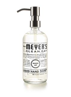 Glass Hand Soap Bottle by Meyer's Clean Day