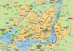 Plan de Montréal / City Map of Montreal