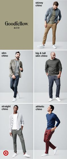 A Sneakers Guide. Sneakers happen to be an element of the world of fashion for more than you might think. Modern day fashion sneakers have little resemblance to their earlier forerunners but their popularity remains undiminished. Skinny Chinos, Slim Chinos, Style Masculin, Outfits Hombre, Look Man, Best Wear, Look Chic, Sneakers Fashion, Sneakers Style
