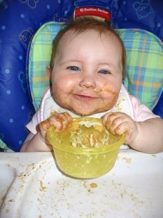 Only babies can make being this messy cute~ Lunch Time, Recliner, Babies, Chair, Cute, Photography, Home Decor, Babys, Photograph
