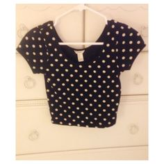 Forever 21 Polka Dot Crop Top Great condition. Rarely worn. Black and white, cropped. Forever 21 Tops Crop Tops