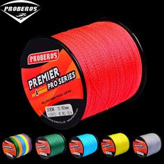 1pc Proberos Brand 300M-500M-1000M Multifilament PE Braided Fishing Line 4 stand 6LB 30LB 35LB 40LB 50LB 60LB 70LB 80LB 120LB Review Grey Yellow, Red Green, Green And Grey, Red And Blue, 4 Strand Braids, Braided Line, Fishing Line, Braids With Weave, Wish Shopping