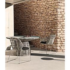 B&B Italia Crinoline Outdoor Gartenstuhl mit Polyethylenfasergeflecht 61 cm