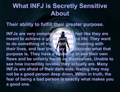 What INFJ is Secretly Sensitive About