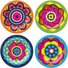 Side Plates - Set of Four Trippy Painting, Dot Art Painting, Mandala Painting, Pottery Painting, Ceramic Painting, Mandala Art, Easy Mandala Drawing, Simple Mandala, Painted Trays
