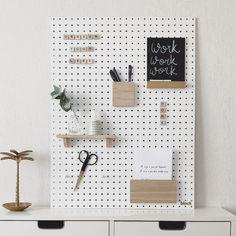 Wooden Pegboard Letters, Shelf, Chalkboard and Stationery Holders.