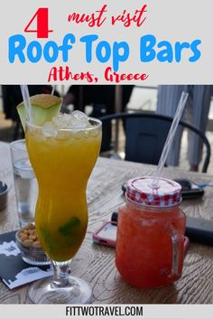 4 must visit roof top bars Athens Greece | The best bars in Athens | Athens Roof Top Bars | Where to eat Athens Fittwotravel.com