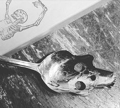 Win a Hand Made Silver Skull Spoon by Pinky Diablo #Sweepstakes Ends 12/30.