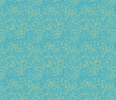 Curlies - teal fabric by designed_by_debby on Spoonflower - custom fabric