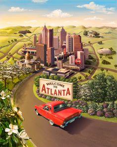 Welcome to Atlanta - Jay Montgomery, Illustrator
