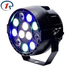 ZjRight RGBW LED par luz 15 W LLEVÓ la etapa de control DMX Equipo proyector de iluminación Disco KTV dj Barra de luz a todo color iluminación