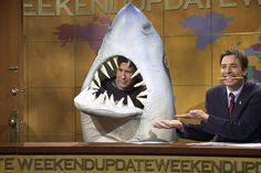 Chevy Chase in a shark costume on SNL ~j