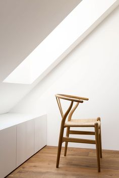Attic Apartment Bled is a minimalist design created by Slovenia-based designer Arhitektura. The apartment is an attic and its square meters yield less living space, so the family decided for an open plan configuration. Attic Apartment, Attic Rooms, Attic Playroom, Apartment Therapy, Attic Renovation, Attic Remodel, Attic Design, Interior Design, Interior Styling