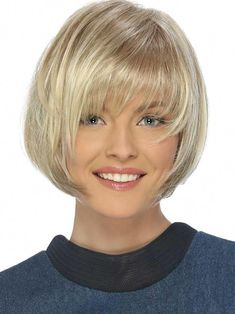 Petite Charm Wig by Estetica Designs - Synthetic Short Bob - The HeadShop Wigs - Petite Charm Synthetic Pure Stretch Cap Wig by Estetica Designs Wigs - Cute Bob Haircuts, Asymmetrical Bob Haircuts, Choppy Bob Hairstyles, Bob Hairstyles For Fine Hair, Haircuts With Bangs, Wedding Hairstyles, Princess Hairstyles, Simple Hairstyles, Hairstyles Men