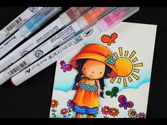 How to mix Skintones - with Zig Clean Color Pens - YouTube
