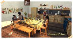 Ranch Kitchen Multiposes Eat, Drink and Have Fun! #secondlife #sl #decor #design #mesh #chezmoi #chezmoifurnitures #kitchen