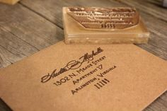 Custom Return Address Stamp ( 2 x 3 inches ) -  Custom Stamp - Customized Stamp - Personalized Rubber Stamp - Clear Rubber Stamp. $40.00, via Etsy.