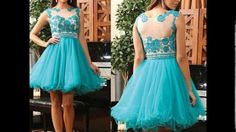 Hermosos vestidos color turquesa para chicas♥