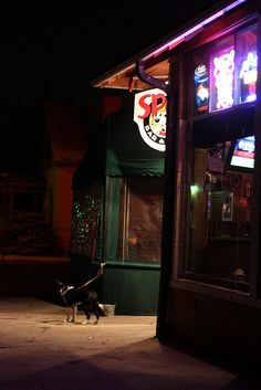 Edward Hopper (at a bar with a dog) by brofax, via Flickr