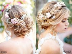 Wedding Hairstyles For Long Hair - Hair Styles Bridal Hairstyles With Braids, Wedding Hairstyles For Long Hair, Wedding Hair And Makeup, Wedding Hair Accessories, Bride Hairstyles, Hair Wedding, Hairstyle Wedding, Hairstyle Ideas, Short Hair