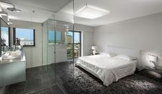 15 Exceptional Ideas For Modern Bedroom Design With Open Bathroom - Top Inspirations