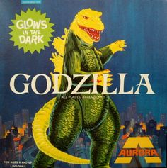 Godzilla: Aurora glow in the dark model kit. I actually had this model kit when I was a kid! Godzilla and The Creature ruled! Plastic Model Kits, Plastic Models, Retro Toys, Vintage Toys, 60s Toys, Vintage Games, Godzilla, I Frankenstein, Creepy Kids