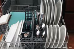 Lower Dishwasher Rack detail via LCena Mama