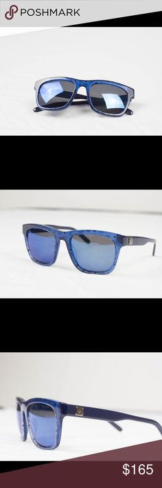 MCM Blue Visetos Sunglasses Perfect new condition with no signs of wear Sold out online Purchased from wasteland in melrose LA Splash on your friends  Retail  $200+ Does not come with MCM case MCM Accessories Glasses