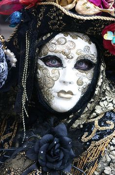 An absolutely stunning Venetian mask.  What an expression!  Sad?  Contemplative?  Giving nothing away.