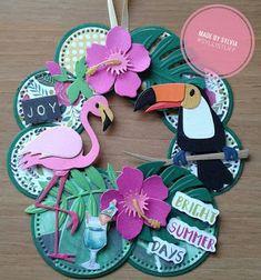 Flamingo Decor, Marianne Design, Summer Days, Paper Cutting, Joy, Bright, Floral, Cards, Scrapbooks