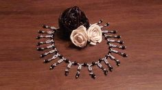 Black & Silver Beaded Necklace Jewelry: Beads Creation