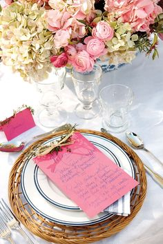 Coordinate your menu with your table setting