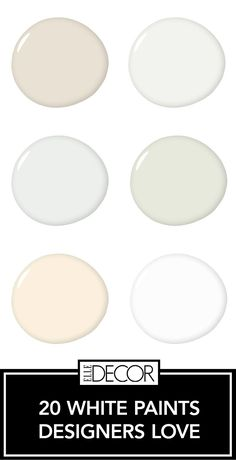 White Paint Colors That Top Designers Swear By 20 Best White Paint Colors - Designers Favorite Shades of White Paint Indoor Paint Colors, Ceiling Paint Colors, Neutral Paint Colors, Paint Color Schemes, Best Paint Colors, Paint Colors For Home, Stain Colors, White Colors, White Ceiling Paint