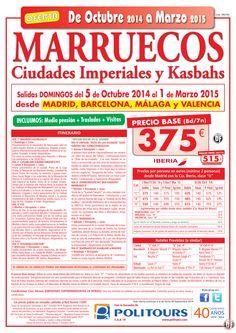 MARRUECOS-C. Imp. y Kasbahs-sal. del 2/11 al 28/12 dsd mad, bcn, agp y vlc (8d/7n)precio final 515€ ultimo minuto - http://zocotours.com/marruecos-c-imp-y-kasbahs-sal-del-211-al-2812-dsd-mad-bcn-agp-y-vlc-8d7nprecio-final-515e-ultimo-minuto/