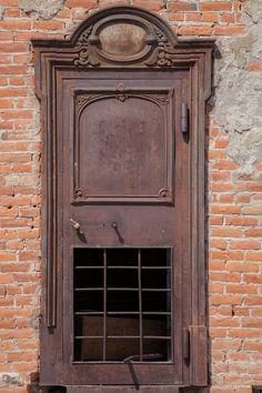 Old bank door in Bodie Ghost Town, eastern California