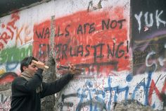 The Berlin Wall, symbol of the Cold War, fell in 1989.