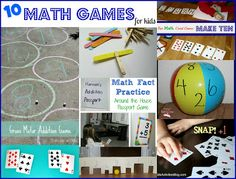 10 FUN and Hands-on Math Games for kids practicing math facts